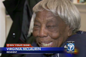 Virginia McLaurin. (WJLA photo)