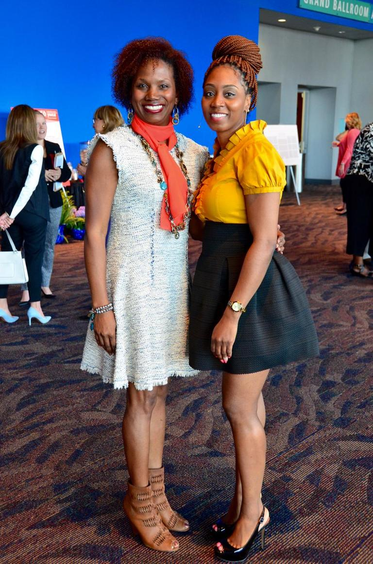 Pictured: Shantel Thomas and Tonika Lotete / Event: YWCA Luncheon (May 9) / Image: Leah Zipperstein // Published: 6.6.18