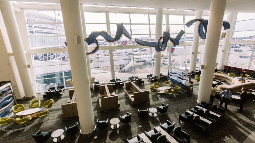 New Delta Sky Club At Sea Tac Airport Is Part Lounge Part