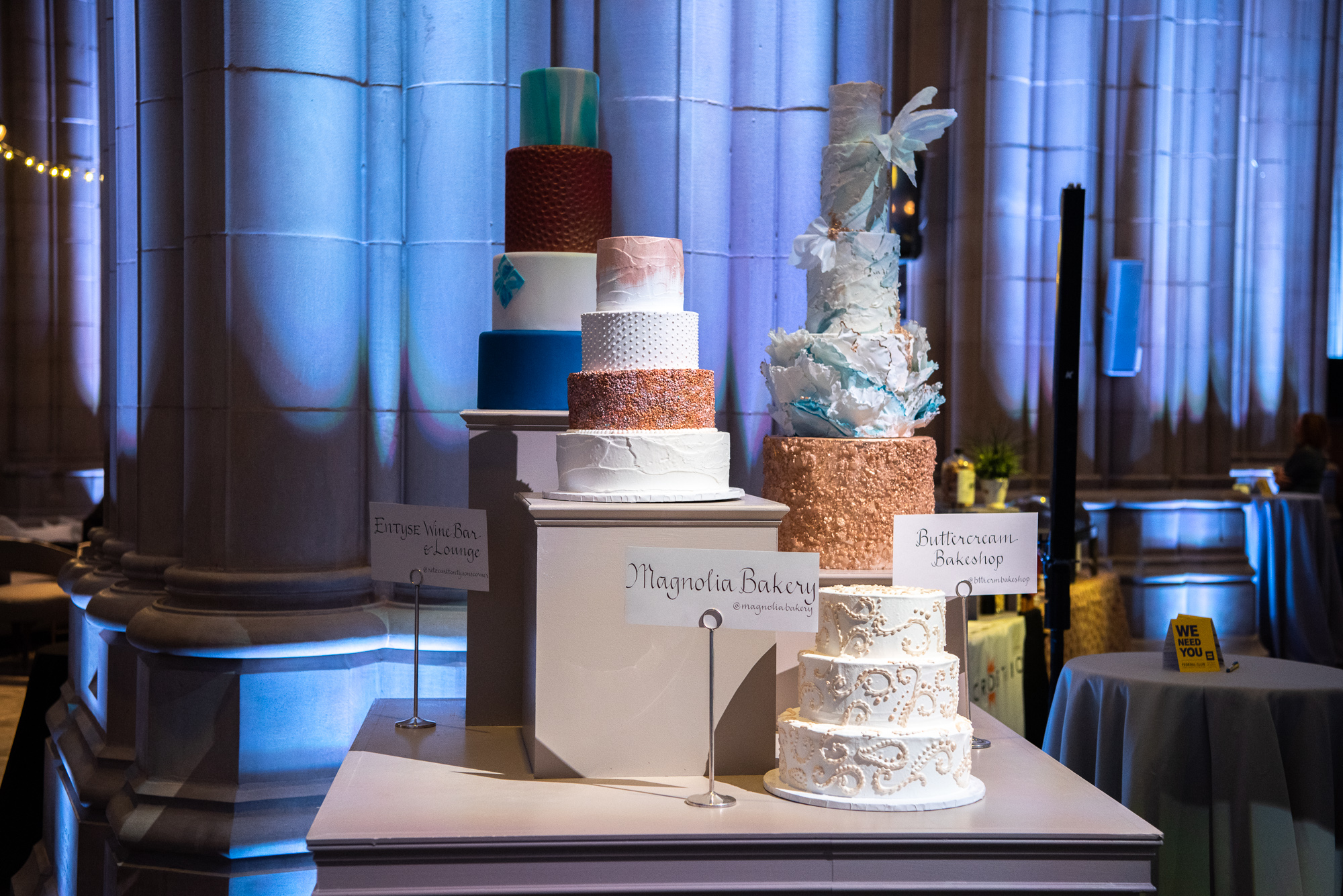 More wedding cakes from Entyse Wine Bar & Lounge, Magnolia Bakery and Buttercream Bakeshop.{ } (Image:{ }Jeff Martin for Human Rights Campaign)