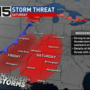 Severe weather expected Saturday