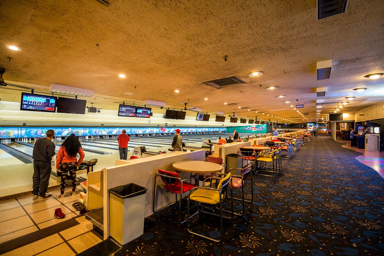 PLACE: Western Bowl Strike & Spare / ADDRESS: 6383 Glenway Avenue (Bridgetown North) / Western Bowl is part pool hall and part bowling alley with 68 lanes to choose from. Take a break between strikes at their restaurant, the 11th Frame Bar & Grill, where you can find all kinds of tasty options and daily happy hour deals from the bar. You can also partake in their annual Hoinke Classic—a bowling tournament that originated in 1943 during WWII. / HOURS: Monday 10 AM-12 AM, Tuesday 10 AM-11 PM, Wednesday and Thursday 9 AM-12 AM, Friday and Saturday 9 AM-1 AM, and Sunday 9 AM-12 AM / Image: Catherine Viox // Published: 10.29.19