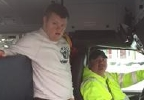 PWA  TY COPPOLA  GETS ON SCHOOL BUS-----BUS DRIVER STORY  HONORING HIM.JPG