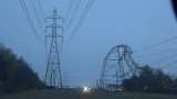 Transmission line tower topples during storm in San Antonio