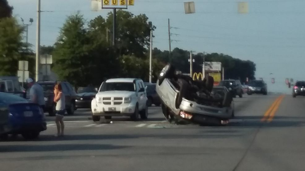 Driver escapes serious injury after truck flips in Dalton crash
