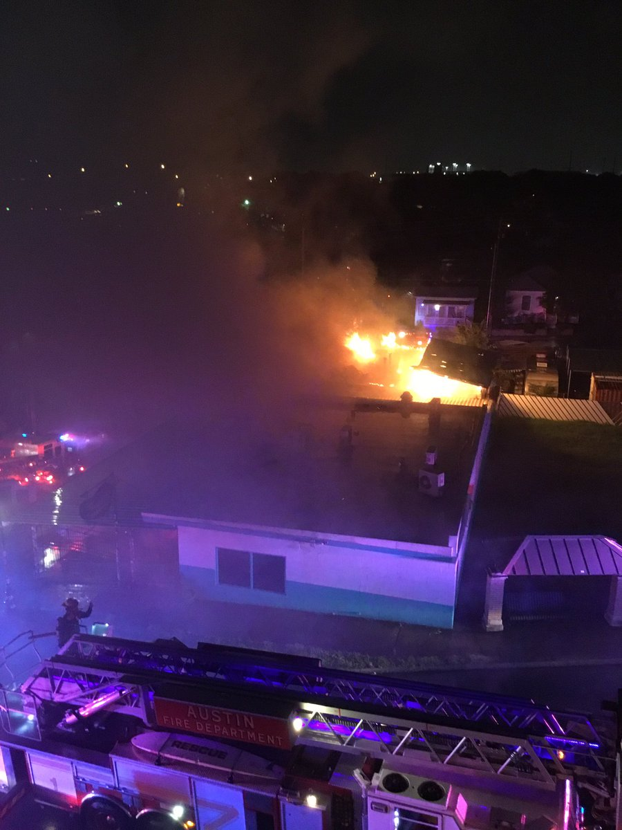 The Austin Fire Department says a fire at Franklin Barbecue is now under control (Photo courtesy: Joseph Lai)