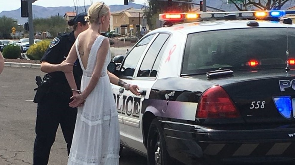 Bride arrested for DUI while driving to wedding