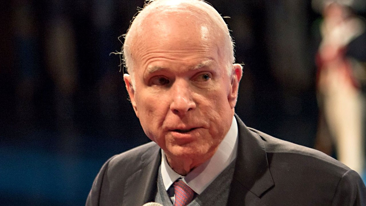 John McCain, American politician serving as the senior United States Senator from Arizona., Photo Date: November 14, 2017{&amp;nbsp;}John McCain / Facebook via MGN Online<p></p>