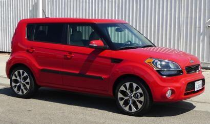 "This 5-door hatchback makes for a great starter car for twentysomethings in the city. Available in three trim levels %u2014 base, "" "" and ""!"" %u2014 the Kia Soul offers a surprising amount of versatility and amenities given its budget price.Base MSRP: $14,400"