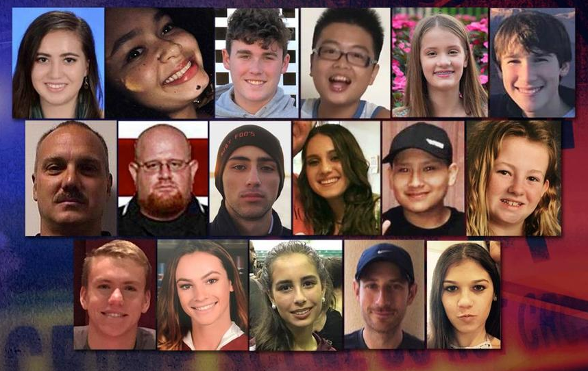 One year ago today, 17 people — 14 students and three staff members — were killed when a gunman opened fire at Marjory Stoneman Douglas High School in Parkland, Florida. Today, we remember.<p></p>