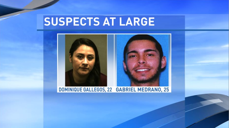 22-year-old Dominque Gallegos and 25-year-old Gabriel Medrano are still being sought following a 2-year organized crime investigation. (Photo: Randall County Sheriff's Office)