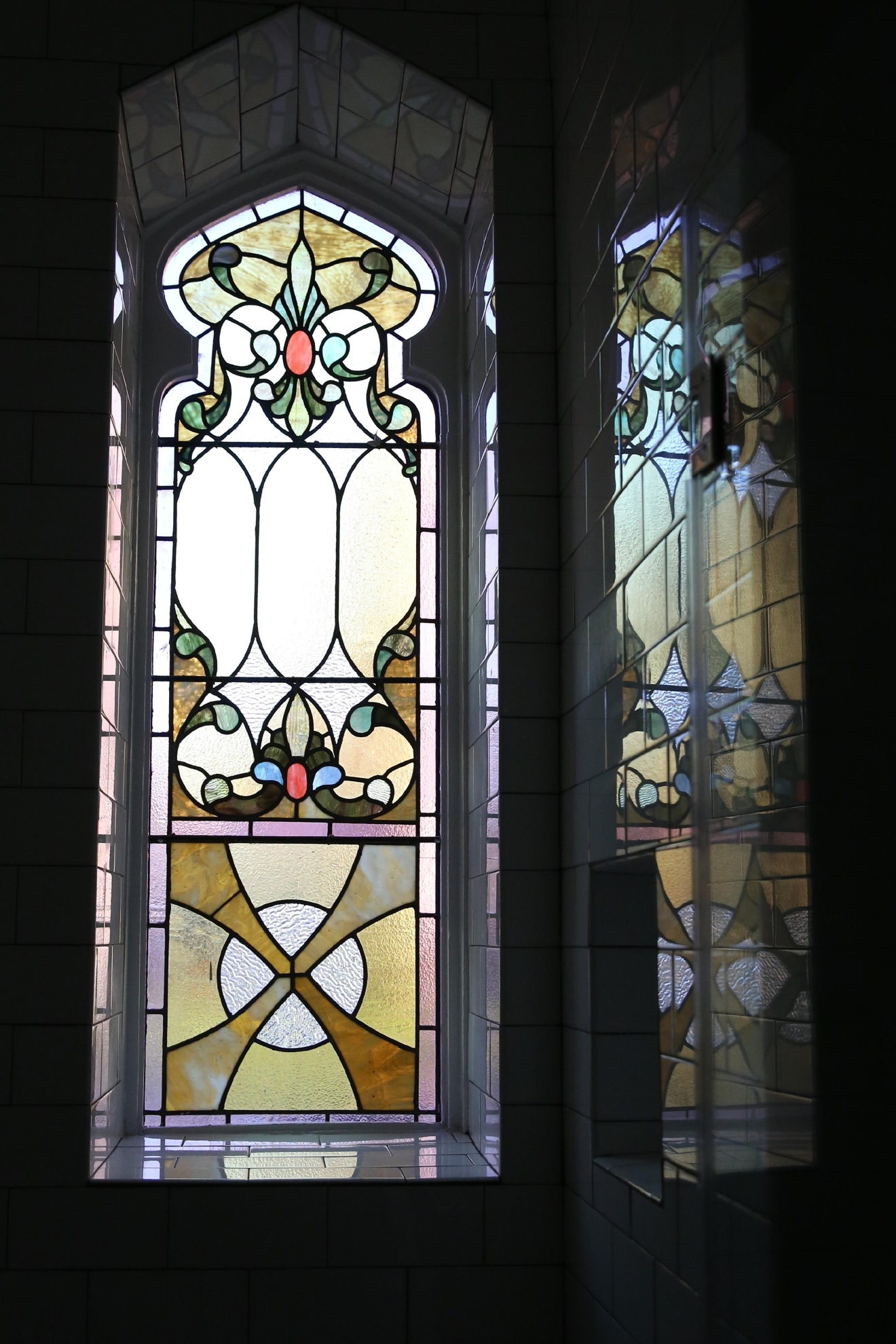 When the congregation of the Way of the Cross Church of Christ on Capitol Hill outgrew its 119-year-old church, The Rubin Group took a leap of faith and converted the building to a 30-unit condominium. Founder Andrew Rubin says he intentionally kept some of the church's elements intact, like the painstakingly restored stained glass windows. The project is slated to be completed next week, but most of the condos, which range from $300,000s to a $1.7 million penthouse, have been sold.  (Amanda Andrade-Rhoades/DC Refined)