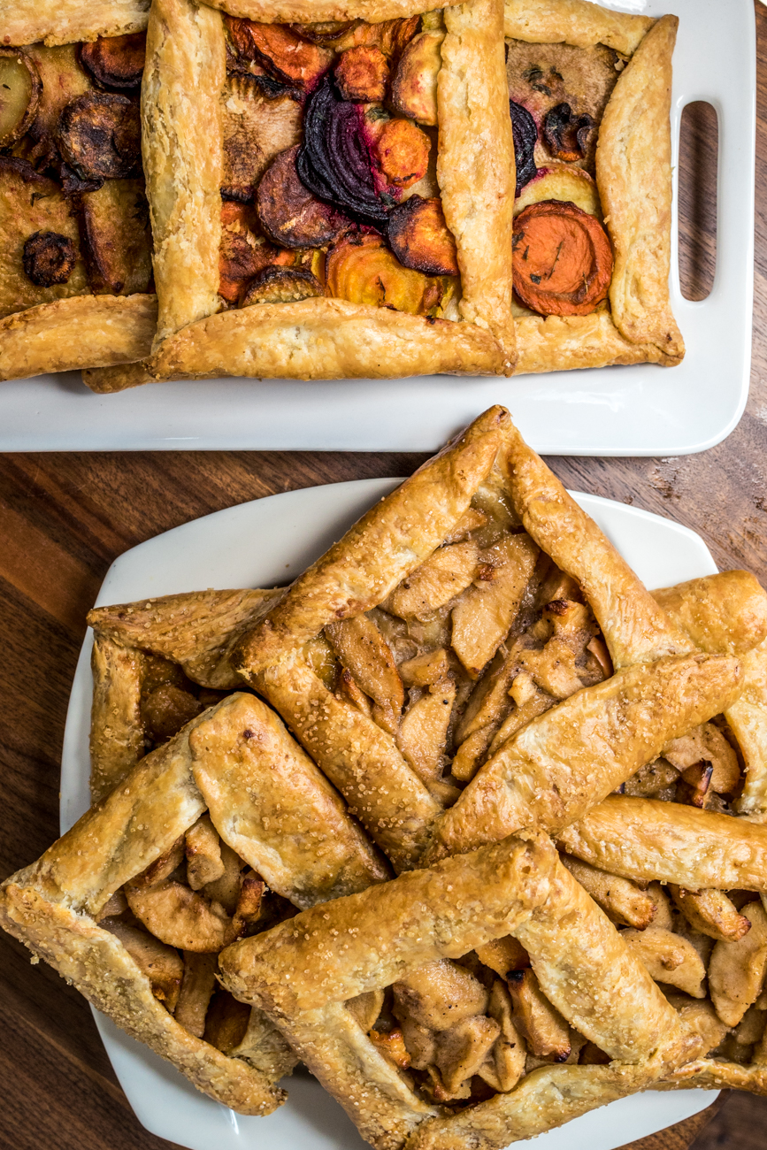 Root Vegetable and Apple Galettes / Image: Catherine Viox{ }// Published: 9.16.20