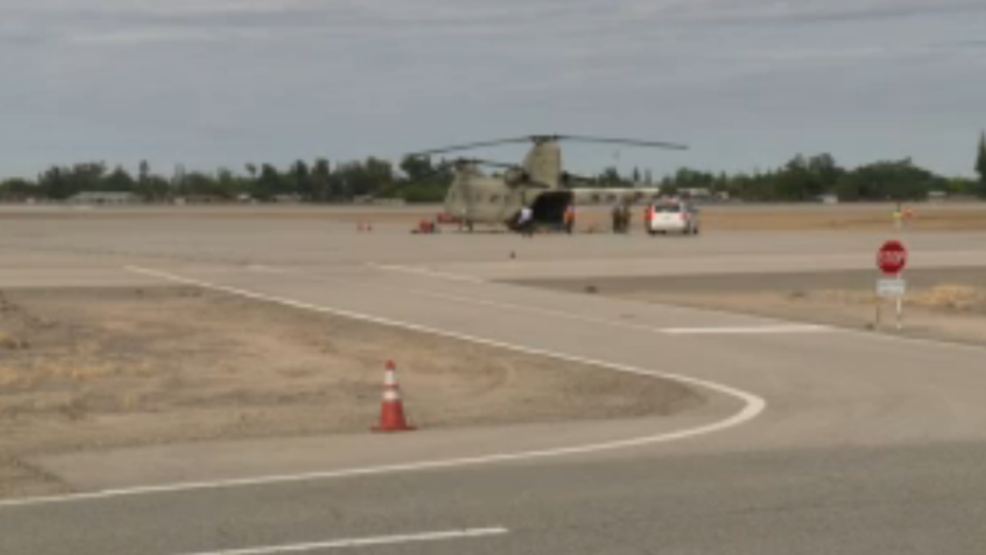 Training exercise taking place at Fresno Yosemite International