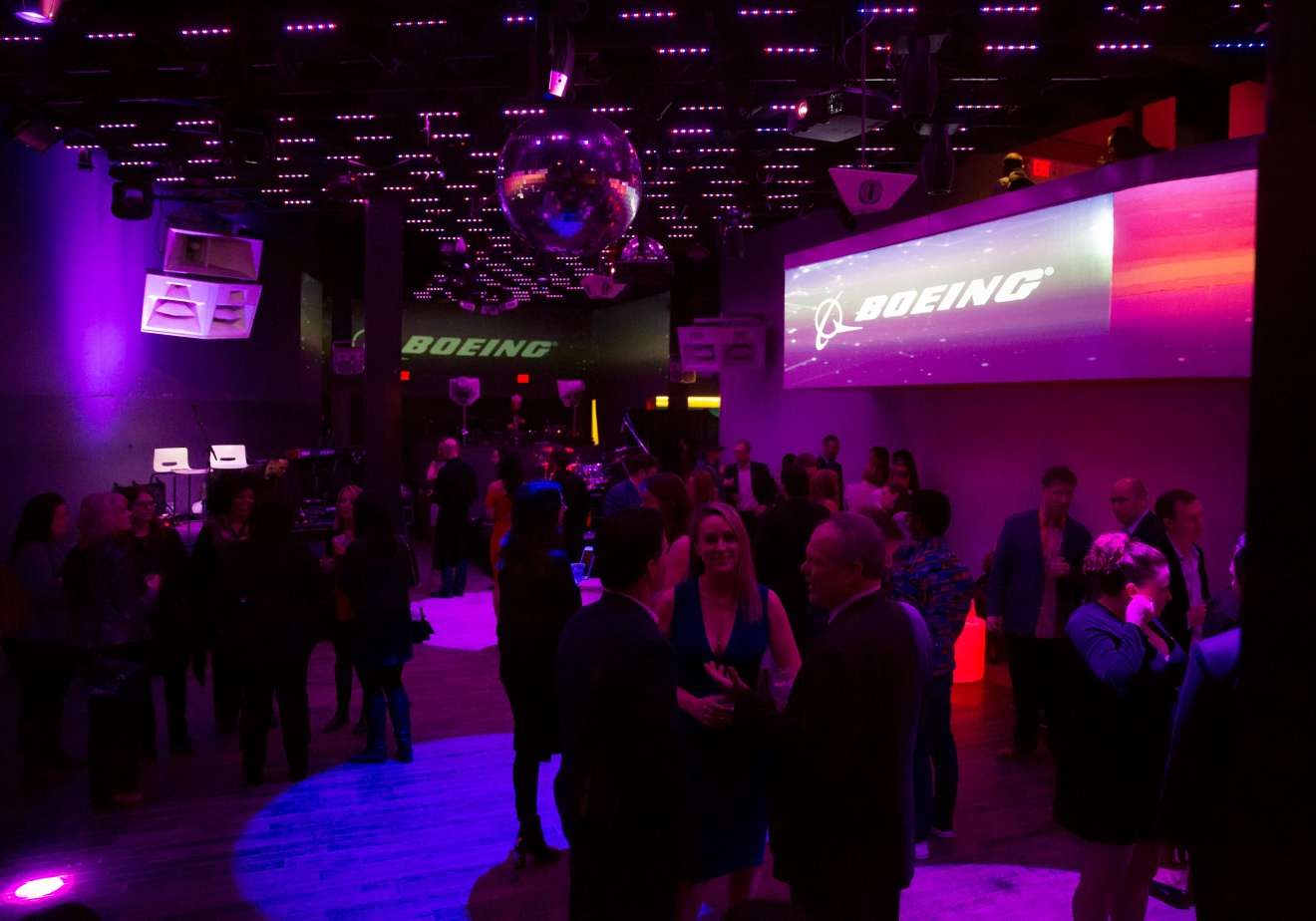 The #HelloSeattle Virgin Atlantic party at Q Nightclub, celebrating the airline's new route from London to Seattle. (Sy Bean / Seattle Refined)