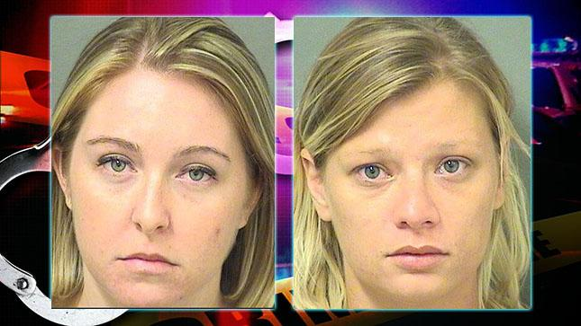 Kristen O'Connor and June Schweinhart are facing child neglect charges. (PBSO)<p></p>
