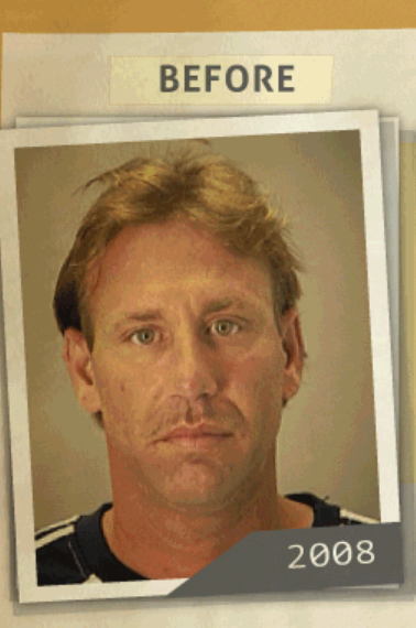 This 2008 photo was taken of a man  who reportedly had a 'manufacture of Methamphetamine or Mixture' charge. (Photo, info from rehabs.com/)