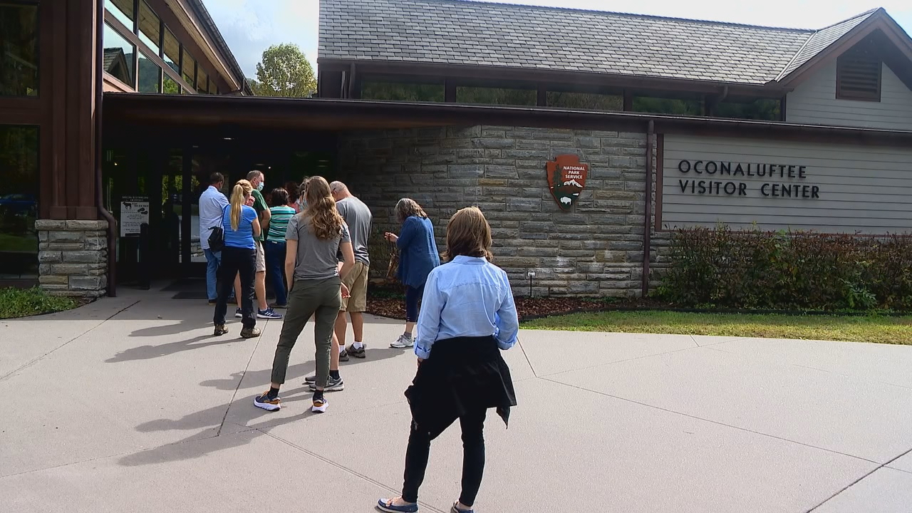 A series of virtual public meetings about overcrowding at Great Smoky Mountains National Park are taking place this week. (Photo credit: WLOS staff)