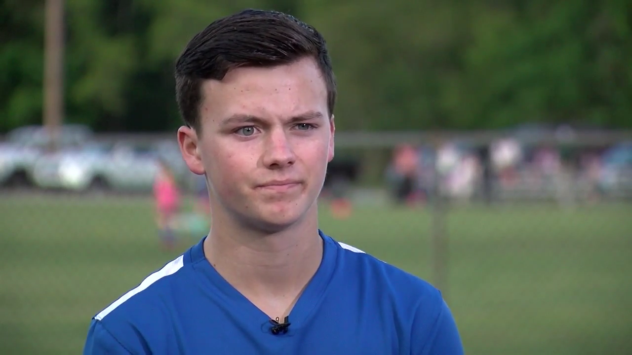 Nick Price is a young man who, faced with his own mortality in the form of brain cancer, refused to back down. Instead it was game on. Now the Academic Magnet junior is fully committed to helping others (Dave MacQueen/WCIV)