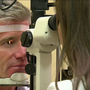 Chattanooga eye doctor treating man for a post-eclipse problem