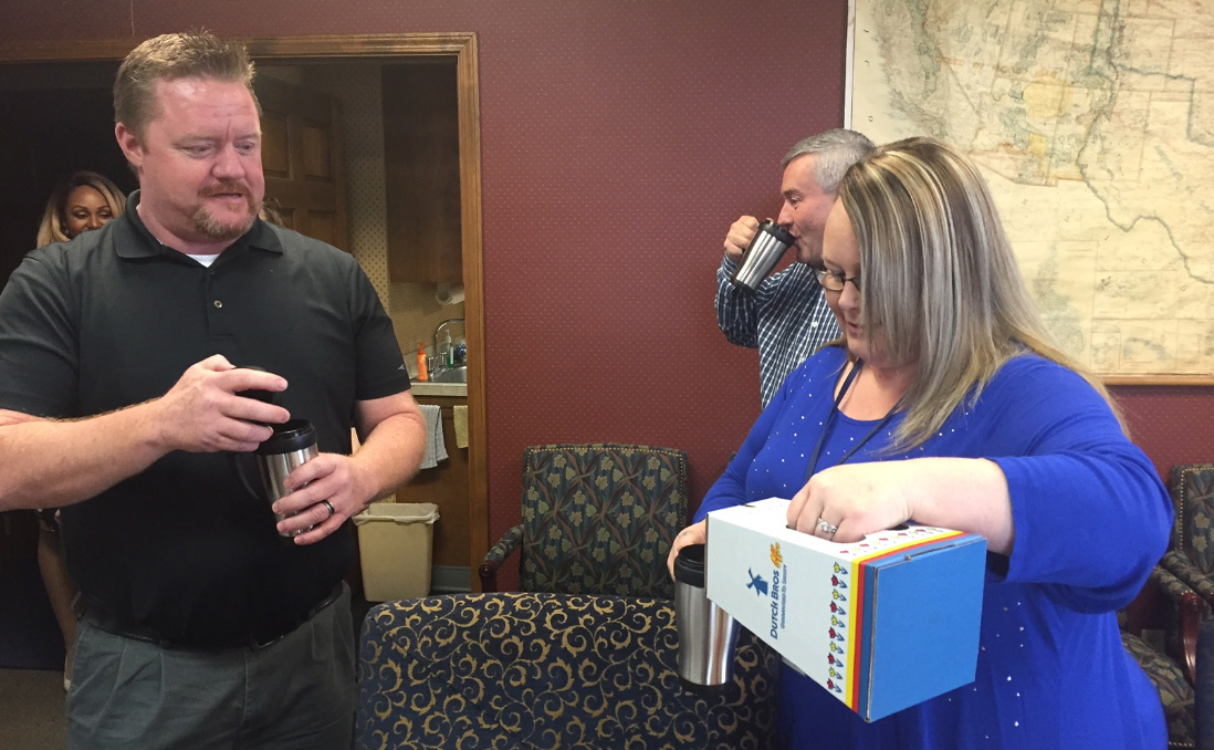 Mugshot Mondays: This week's winner is Merchants Moving and Storage in Boise! Kelsey Anderson helped deliver free Dutch Bros. Coffee and KBOI mugs! Want your business to be next? Enter: http://bit.ly/1UoKo3X