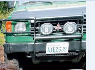 Green 1990 Mitsubishi Montero possibly being driven by person of interest in murder of 26-year-old woman in Camano Island. (Photo: Island County Sheriff's Office)