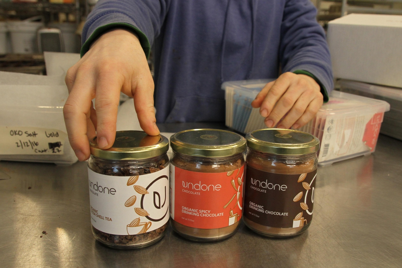 Undone Chocolate is also venturing into different kinds of hot chocolate and chocolate tea. All of their products are organic and vegan. (Image: Amanda Andrade-Rhoades/ DC Refined)