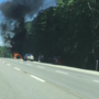 Wells car fire blocks lanes, stalls traffic on I-95