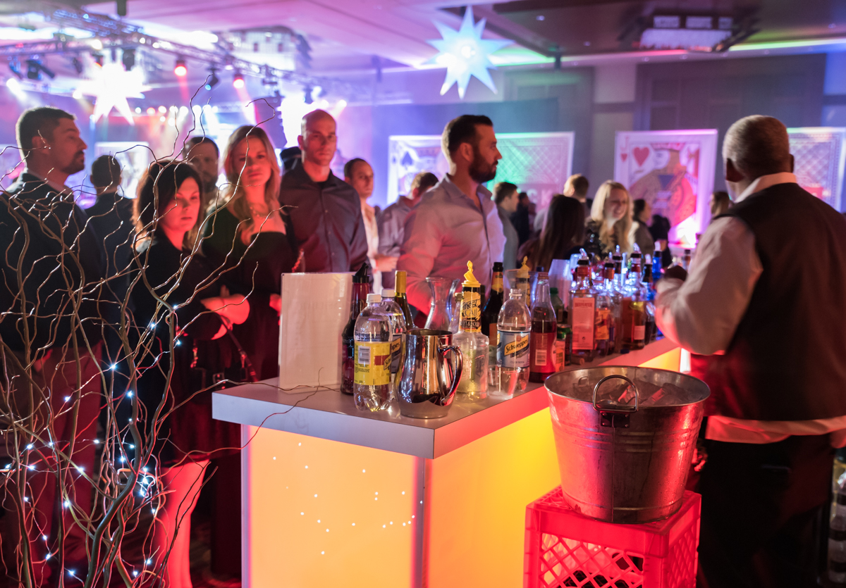 JACK Casino hosted its annual First Midnight NYE celebration on Saturday, Dec. 31. DJ CatchDubs headlined alongside DJ Bandcamp and Clockwork DJ. There was also a 360-degree photo booth. / Image: Sherry Lachelle Photography