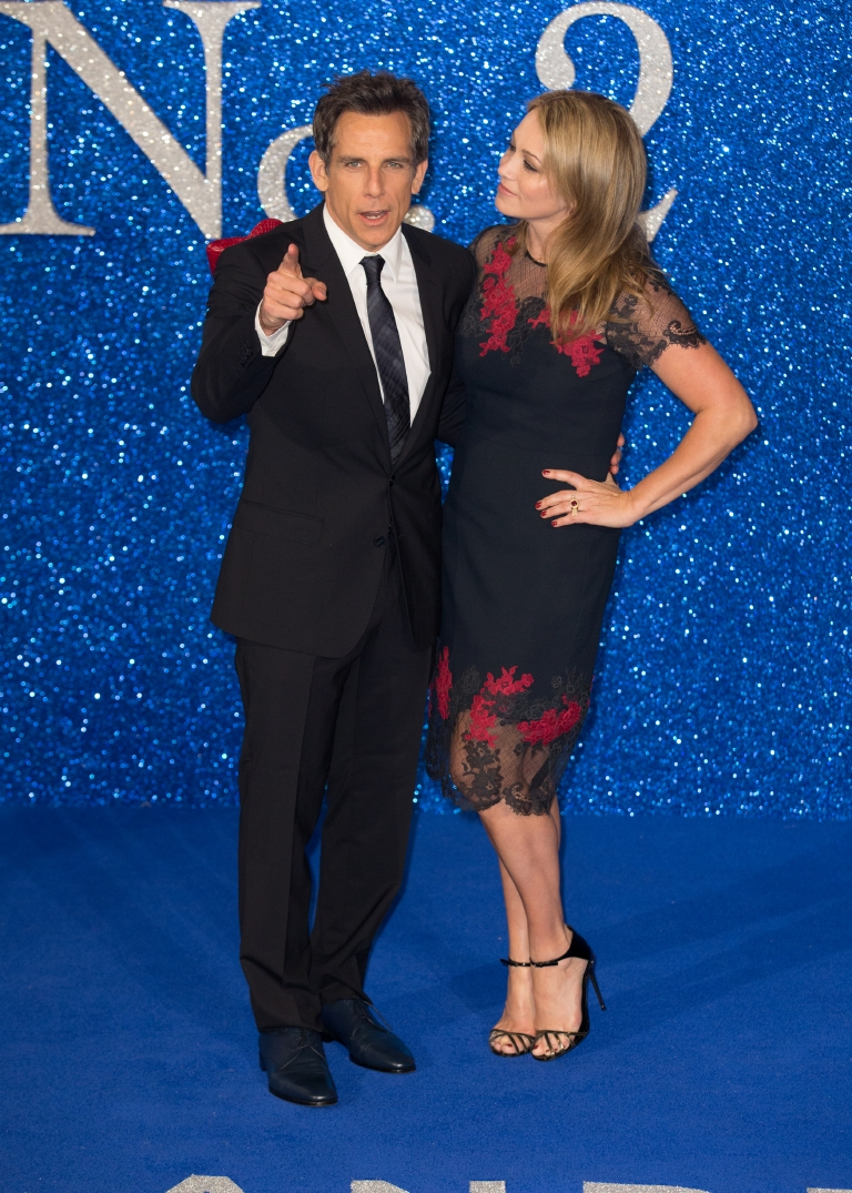 "Ben Stiller and Christine Taylor attend The Fashionable Screening of ""Zoolander 2"" held at the Empire Leicester Square in London on Feb. 4, 2016. (Mario Mitsis/WENN)"