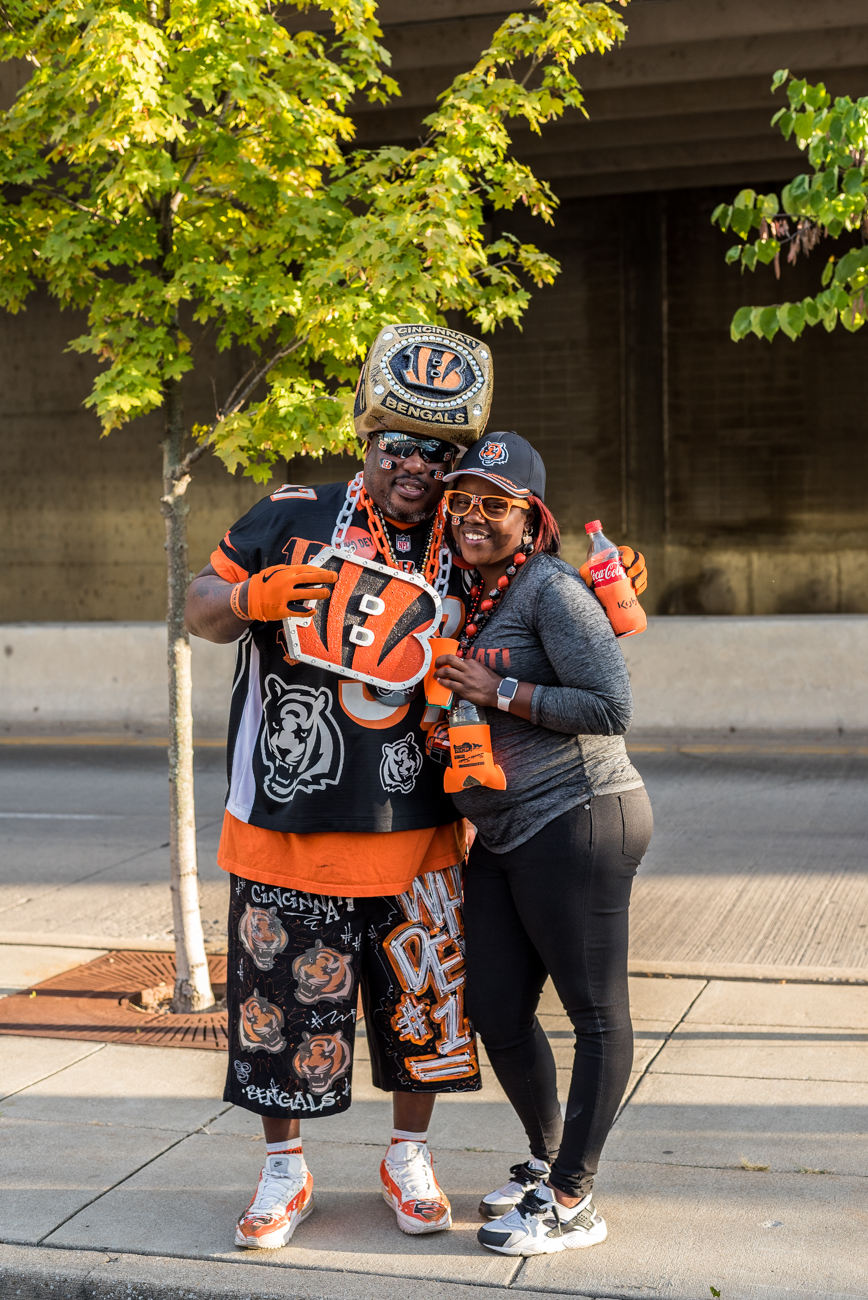 People: Cornell Jones and Cassie Humphrey / Event: Bengals vs. Texans Game (9.14.17) / Image: Mike Menke / Published: 10.1.17