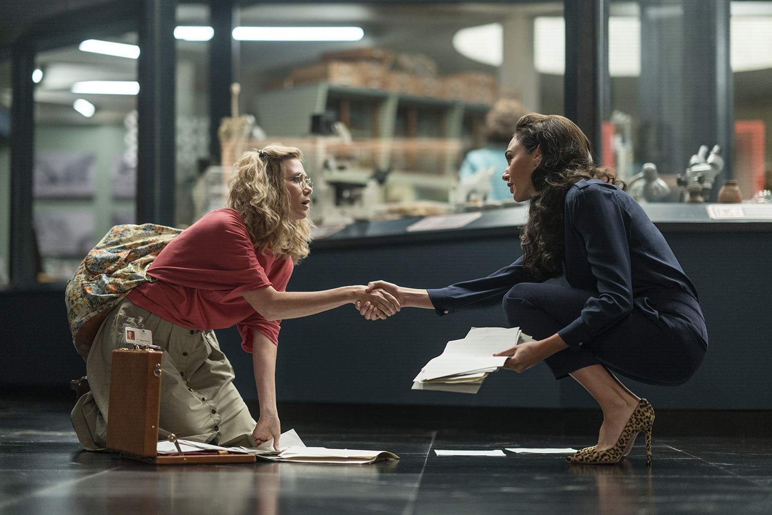 KRISTEN WIIG as Barbara Minerva and GAL GADOT as Diana Prince (Image: Warner Bros. Pictures)