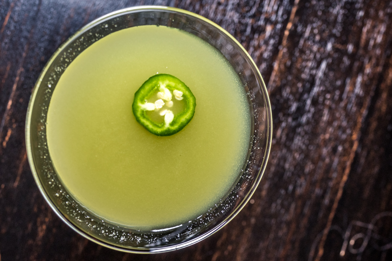 Jalapeño Heat: house-infused jalapeño vodka, lime, cucumber water, and triple sec / Image: Catherine Viox // Published: 2.25.21