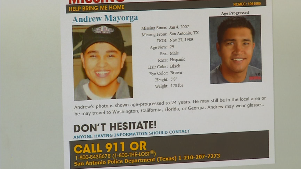 Help Us Find Andrew Mayorga | WOAI
