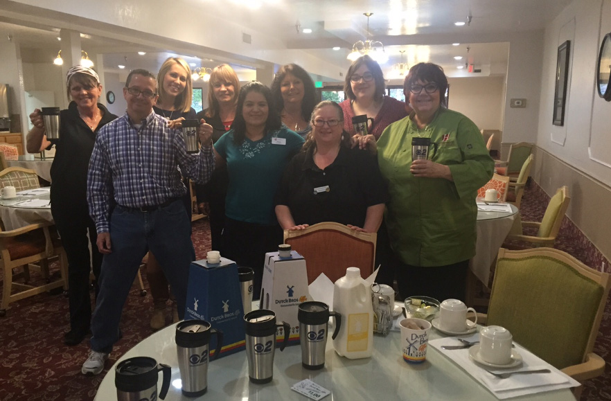 Mugshot Mondays: This week's winner is Heatherwood Senior Living in Boise! Kelsey Anderson helped deliver free Dutch Bros. Coffee and KBOI mugs! Want your business to be next? Enter HERE: http://bit.ly/1UoKo3X