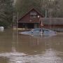 Homes flooded in Arenac County on the Rifle River