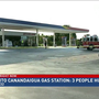 Car crashes into Canandaigua gas station; 3 people injured
