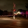 Driver goes under railroad crossing arms, gets hit by train