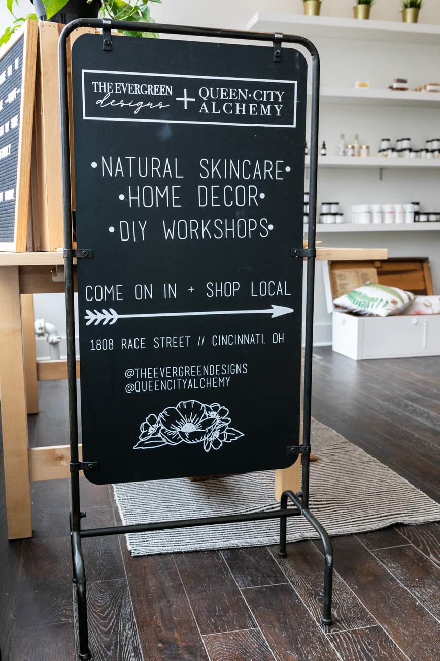Cosmetic crafters can design items such as facial masks, facial serums, and bath salts at the DIY bar. A variety of pillows and wooden signs are available in the home decoration part of the bar to be developed on-demand. / Image: Amy Elisabeth Spasoff // Published: 4.11.19