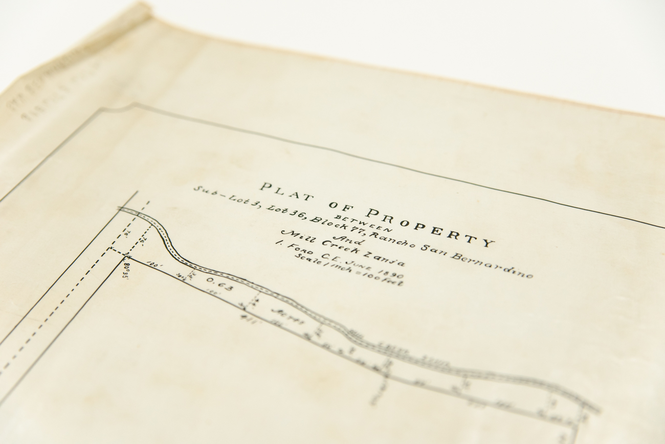 Plat of Property plans from California, circa 1900 / Image: Melissa Sliney{ }// Published: 9.7.19
