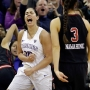 Plum breaks NCAA scoring mark as Washington beats Utah 84-77