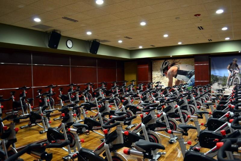 Dedicated spin class studio.
