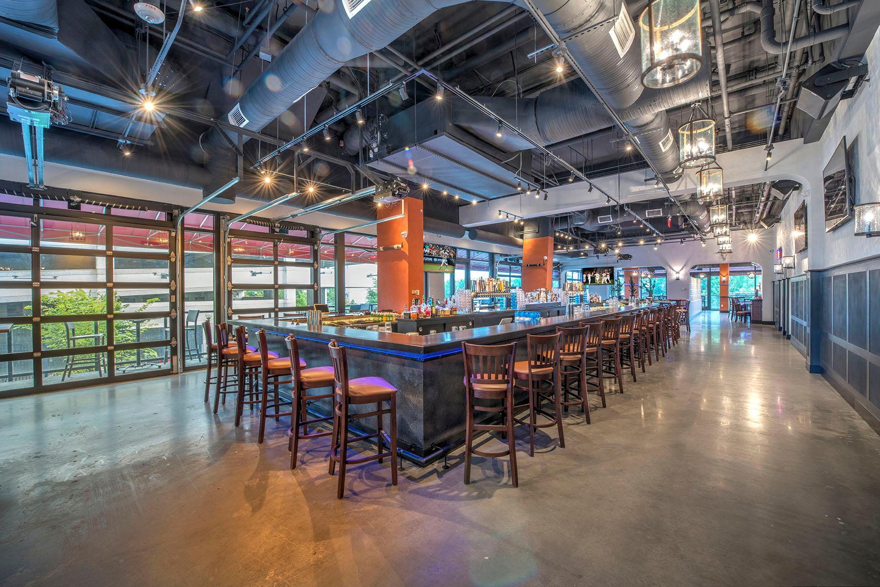 The large bar at Mission Navy Yard. (Image: Courtesy Mission)