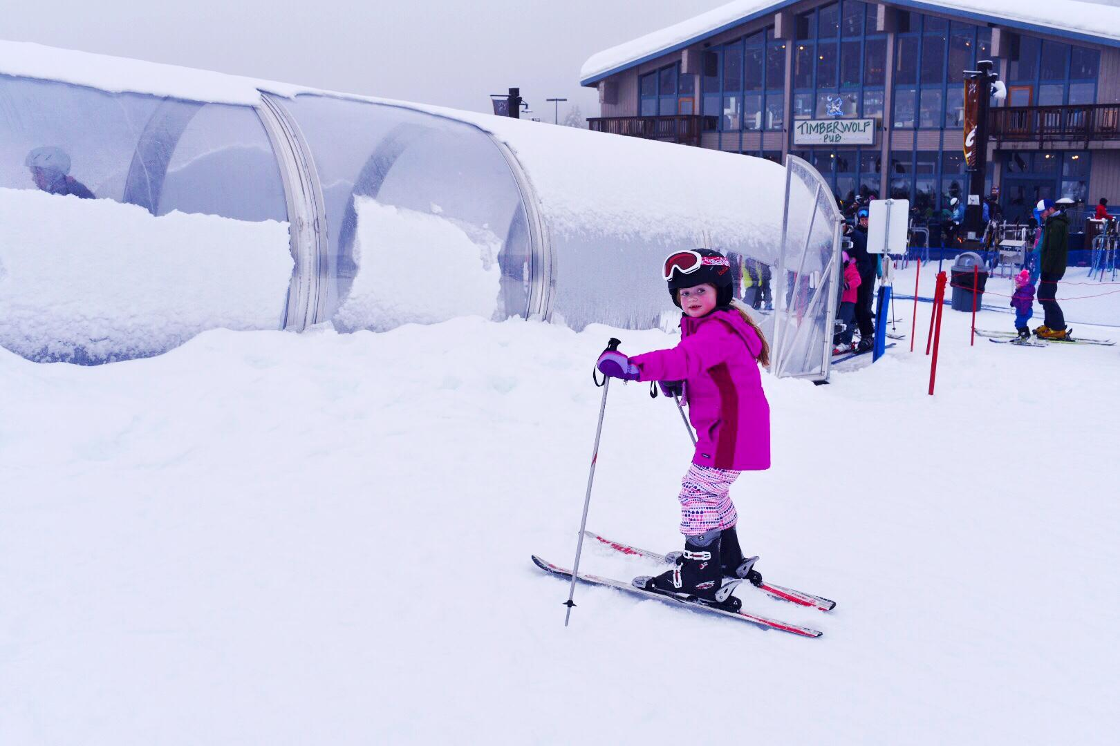 My daughter has taken to skiing and might be better than me sooner rather than later. (Image: Rebecca Mongrain/Seattle Refined)
