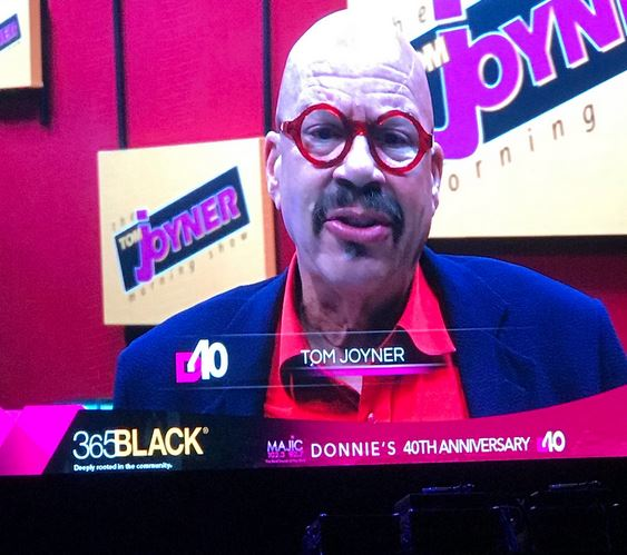 Radio legend Tom Joyner says Donnie Simpson gave urban artists an outlet with program Video Soul when other outlets wouldn't during 40 year anniversary celebration.{&amp;nbsp;} Sunday, Oct. 22, 2017 (Julie Wright/ABC7){&amp;nbsp;}<p></p>