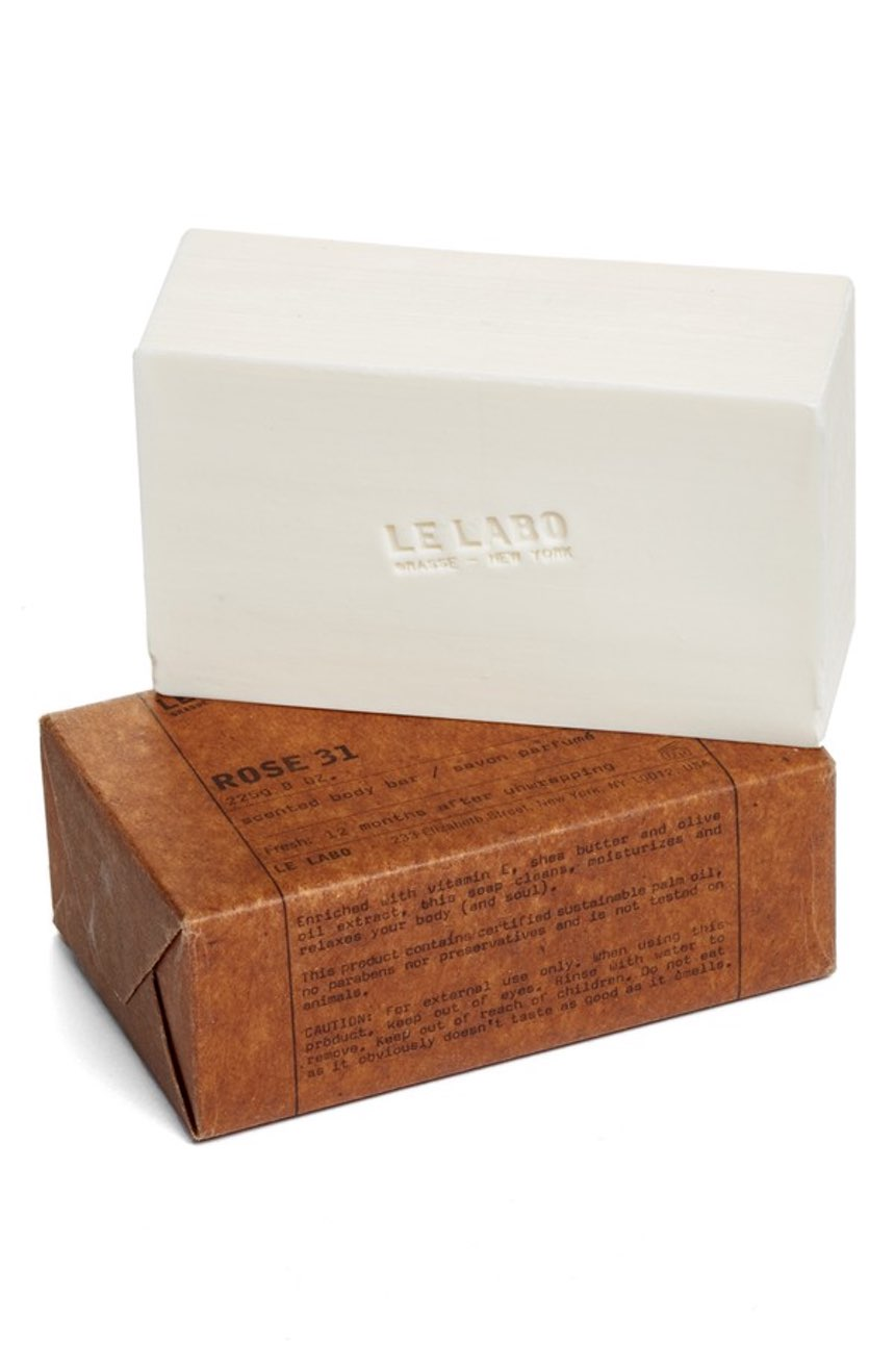 Le Labo Rose 31 Bar Soap ($48). It's time to celebrate Momma.  Here is our Nordie's gift guide for items under $50! (Image: Nordstrom)