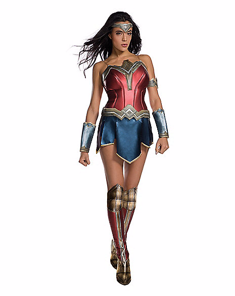 Wonder Woman. Be ready to show off your strong side with a Wonder Woman costume. March into Halloween with gauntlets, slip on boot toppers and a signature tiara. You are bound to feel like Wonder Woman yourself.(Image:{&amp;nbsp;}SpiritHalloween.com)<p></p>