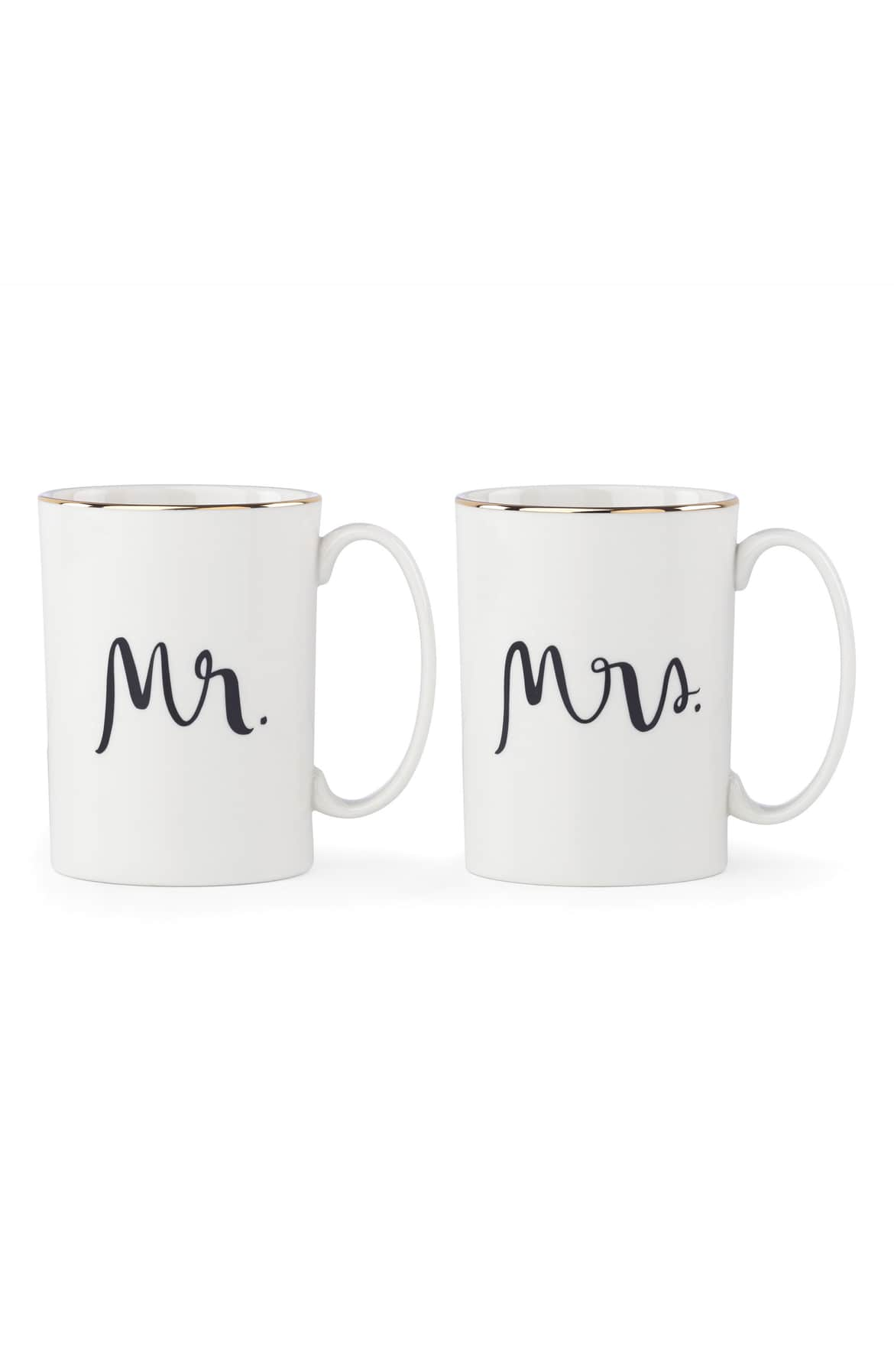 <p>Crafted in glossy porcelain and tipped with shining gilt rims, a pair of charming his-and-hers mugs are perfect when you've brewed coffee for two.{&nbsp;}Price $40.00.{&nbsp;} (Image: Nordstrom){&nbsp;}</p><p></p>