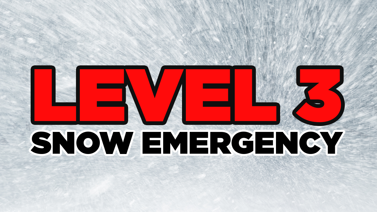 LEVEL 3: All roadways are closed to non-emergency personnel. No one should be driving during these conditions unless it is absolutely necessary to travel or a personal emergency exists. All employees should contact their employer to see if they should report to work. Those traveling on the roads may subject themselves to arrest. (FILE - WSYX/WTTE)