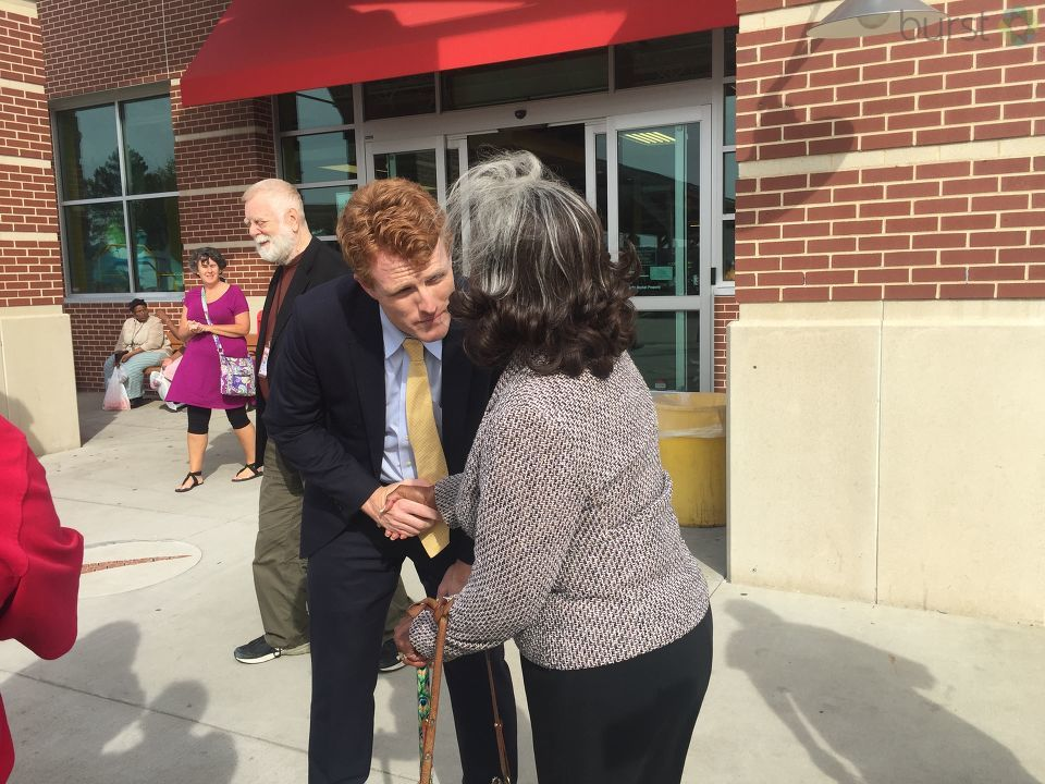 Congressman Joe Kennedy III, great-nephew of President John F. Kennedy, was in Flint Saturday to learn about the Flint water crisis, and spoke out about President Trump's alleged release of classified JFK files. (Photo Credit: Jasmyn Durham)